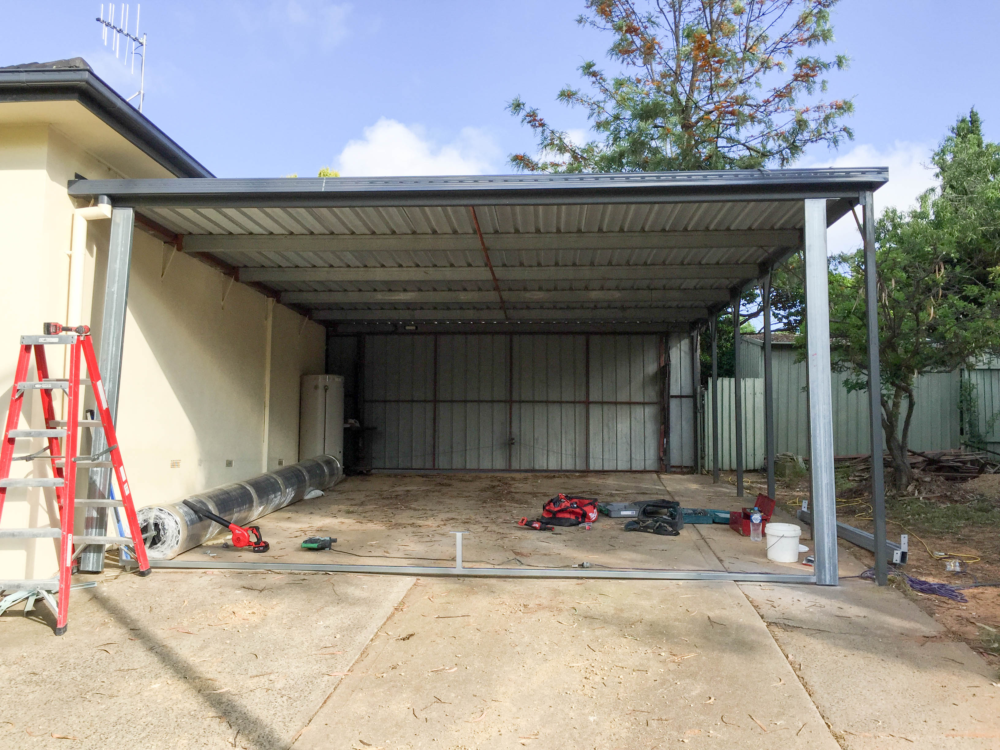 Residential carport conversion for Garage and carport